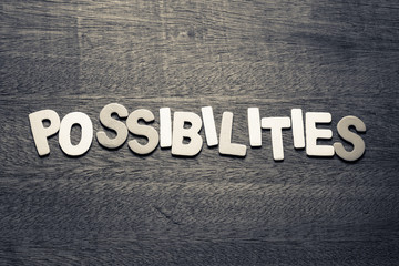 Possibilities Wood Letters