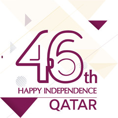 Qatar independence day, national awakening day, and spirit of the union, Qatar with flag background red purple flag