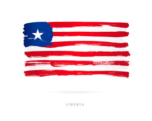 Flag of Liberia. Abstract concept