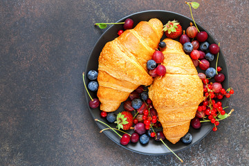 croissants and berries