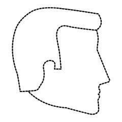 head profile man avatar character vector illustration design