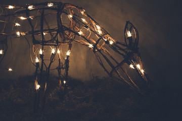 Light up reindeer eating grass  Christmas decoration