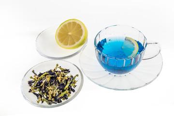 青いハーブティー Butterfly Pea blue flower herbal tea