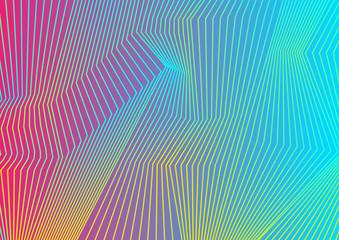 Fotobehang - Colorful curved lines pattern design