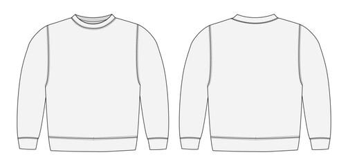 Illustration of sweat shirt ( white)