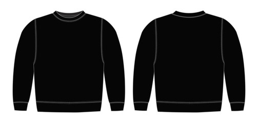 Illustration of sweat shirt ( black)
