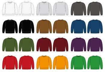 Illustration of sweat shirt / color variations
