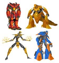 four great giant battle robots