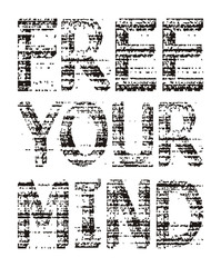 typography free your mind