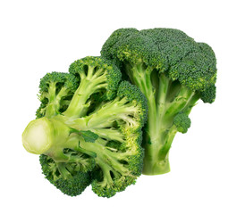 Broccoli florets isolated