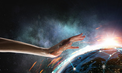 Protect our world. 3d rendering