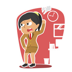 Angry indian businesswoman character– stock illustration