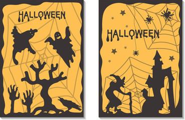 Halloween cards. Vector illustration