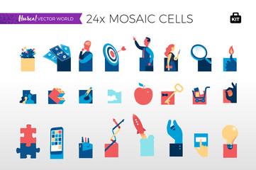 Concetti digitali astratti a mosaico