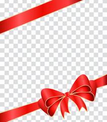 Geschenkband auf transparentem Hintergrund