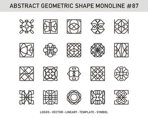 Geometric shapes set. Universal simple decorative forms for pattern seamless
