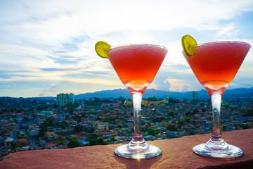 Cocktails over Santiago de Cuba
