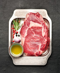 Wall Mural - raw steak ribeye