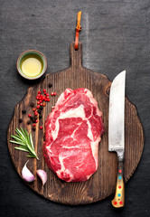 Fototapete - Raw Ribeye steak