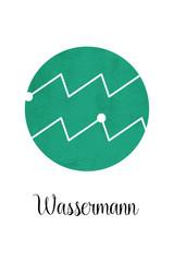 Wassermann - Sternzeichen mit weißem Hintergrund