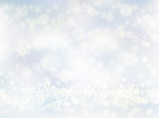 スノーホワイトの輝き-クリスマス背景
