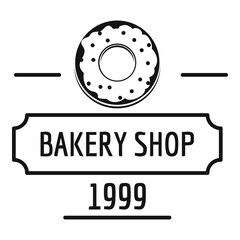 Bakery fresh logo, simple black style