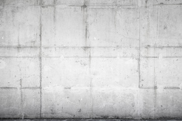 Fototapete - Light gray concrete wall, background photo