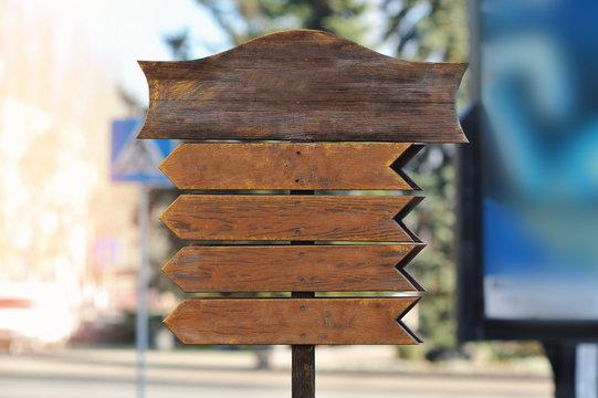 Mock up wooden sign board Natural style shop decoration