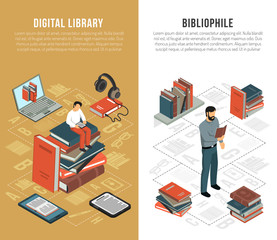 Library Network Vertical Banners