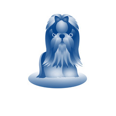 собака синяя