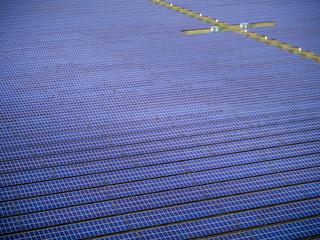 Solar farm from the air