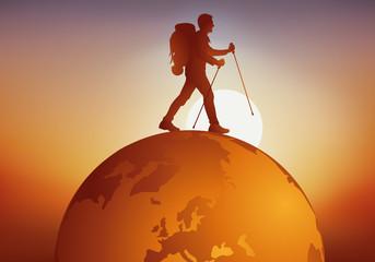 voyage - voyager - globe - randonneur - tour du monde - baroudeur - voyageur - tourisme - aventure