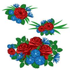 Set of floral arrangements