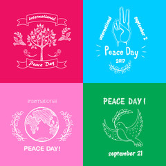 Bright Posters for International Peace Day Text