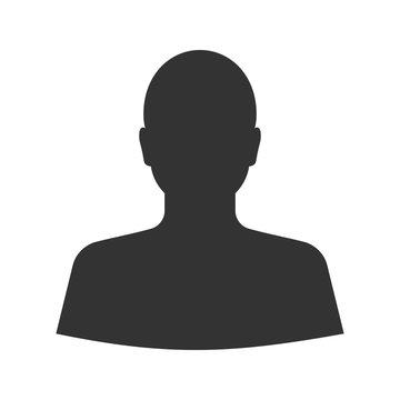 Man's silhouette glyph icon