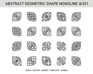 Abstract Geometric set. Monolone shapes. Stock vector Design.
