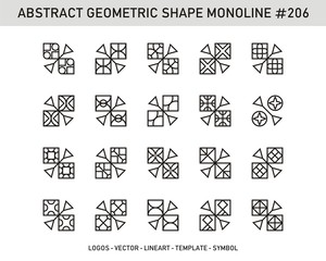Modern Geometric set. Artline shapes. Stock vector Design.