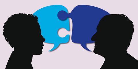 génération - conflit - discussion - mésentente - différence - impossible - père - fils - ado - jeune
