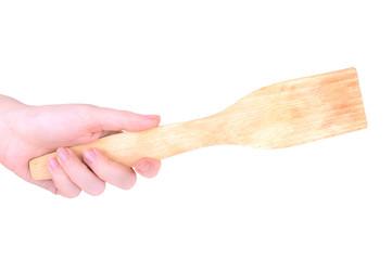 kitchen spatula in hand