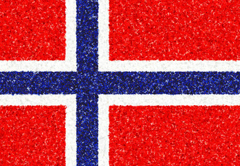 Norwegian Flag with a blossom pattern