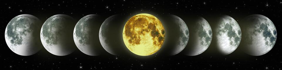 NASA. Cycle of the moon.