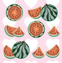 background, Ripe watermelon