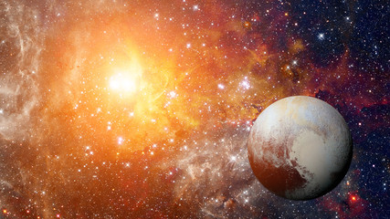 Planet Pluto - solar system planet. Elements of this image are furnished by NASA