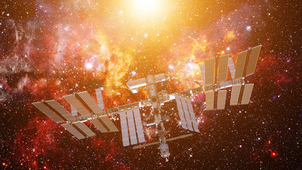 International Space Station. Elements of this image furnished by NASA