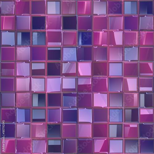 Seamless Purple Tileable Bathroom Tiles Texture Use For BackgroundGeometric Regular Mosaic Illustration Pattern