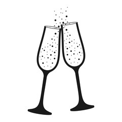 champagne glass isolated icon