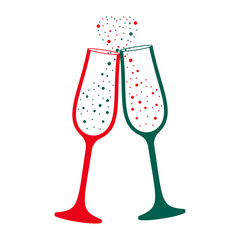 Champagne glass modern vector