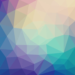 Light pastel color vector Low poly crystal background. Polygon d