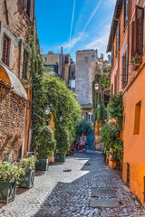 Narrow alley in Trastevere