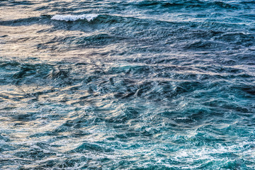 Close up of rough sea in Sardinia